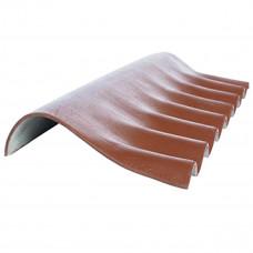 Деталь коньковая FIBRODAH (НТ) КС-1 1130 * 380, коричневая