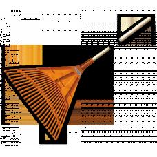 Грабли в форме веера-24 Bradas, с деревянным черенком