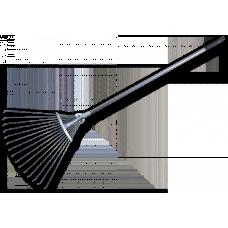 Грабли в форме веера, регулируемые, металлические Bradas