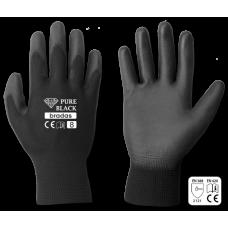 Перчатки защитные Bradas PURE BLACK, полиуретан, размер 10