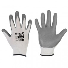 Перчатки защитные Bradas NITROX WHITE нитрил