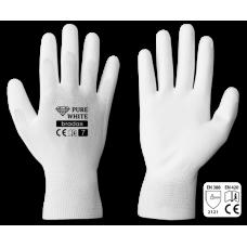 Перчатки защитные Bradas PURE WHITE, полиуретан, размер 10