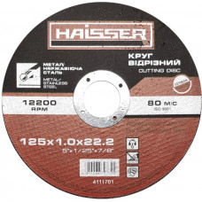 Круг отрезной по металлу и нерж HAISSER 125х1,0х22,2