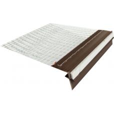 Уголок пластиковый полнофункциональный (темный орех) с сеткой 6 см 2,5 м