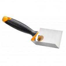 Кельма угловая, внутренняя, 8 х 6 х 6 см, нержавеющая сталь, ручка 2К HARDY