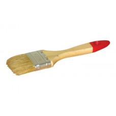"""Кисть плоская Hardy 30 3 """", светлая щетина китайской свиньи, деревянная ручка"""