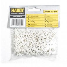 Крестики для кафеля Hardy 2 мм, 200 шт