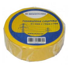 Изолента АСКО 0,13мм*19мм*20м желтая