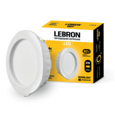 LED светильник LEBRON L-DR-941, 9W, 720Lm, 4100K, встраиваемый