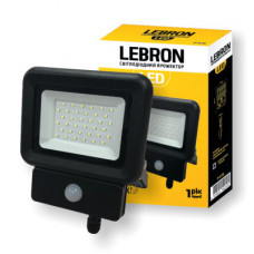 LED прожектор LEBRON LF-10S, 10W, 6500K, 800Lm, 230V, датчик движения  ІР65