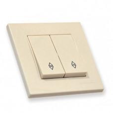 Выключатель 2 клавиши 10А, RITA, Mutlusan, кремовый