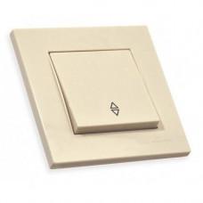 Выключатель 1 клавиша 10А, RITA, Mutlusan, кремовый