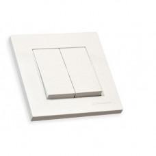 Выключатель 1 клавиша 10А, со световым индикатором, RITA, Mutlusan, белый