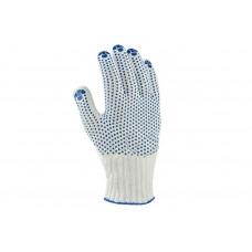 Перчатки рабочие ДОЛОНИ трикотажные с точкой ПВХ
