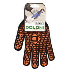Перчатки рабочие ДОЛОНИ трикотажные с 2-х сторон точкой оранжевый
