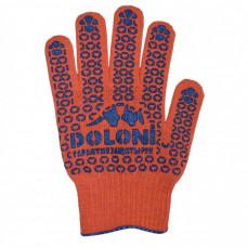 Перчатки рабочие ДОЛОНИ трикотажные с точкой ПВХ, оранжевый