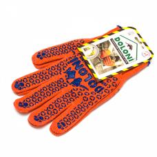 Перчатки рабочие ДОЛОНИ оранжевые с точкой