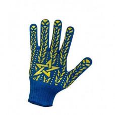 Перчатки рабочие ДОЛОНИ трикотажные синие со звездой ПВХ