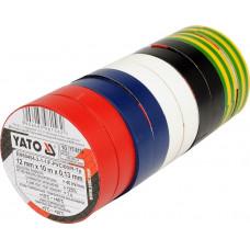 Лента изоляционная разноцветная YATO, 10 шт